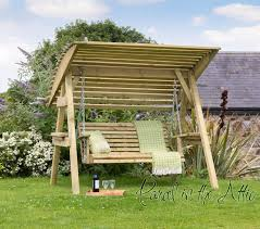 2 seat wooden garden swing chair seat hammock bench furniture lounger