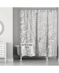 Shower Curtain Map Bargains On New York City Lines Map Shower Curtain In Black White