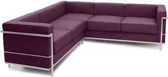 canapé lc2 le corbusier canapé d angle simili mauve inspiré lc2 le corbusier lestendances fr