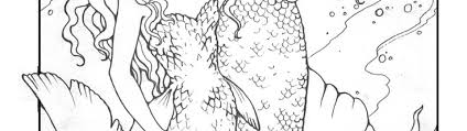 detailed coloring pages mermaids timykids
