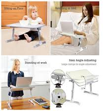 avantree quality adjustable laptop table foldable quality adjustable laptop table portable standing bed desk