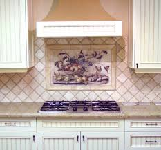 cool tile murals kitchen backsplash featuring pretty hill