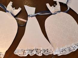 Wedding Shower Decorations by Wedding Dress Garland Paper Bridal Shower Decoration Sparkly White