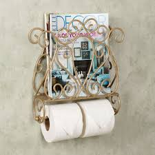 gianna wall mount magazine rack and toilet paper holder