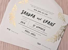gold foil wedding invitations foliage gold foil wedding invitation papermarc melbourne australia