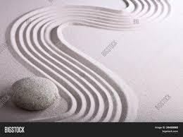 zen garden japanese garden zen stone with raked sand and round