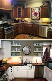 White Kitchen Cabinets Before And After Before And After 25 Budget Friendly Kitchen Makeover Ideas Hative