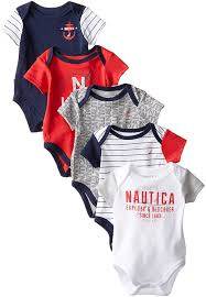 Baby Boy Clothes Target Amazon Com Nautica Baby Boys U0027 5 Pack Bodysuits Clothing
