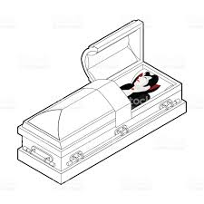 halloween casket dracula in coffin vampire count in an open coffin ghoul in casket