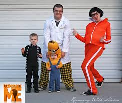 running with scissors despicable me and maternity halloween costume