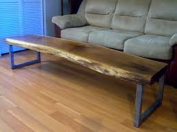 Walnut Live Edge Table by Hand Made Live Edge Black Walnut Coffee Table With Square Legs By