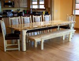 pine bench for kitchen table beetle kill pine live edge dining table with chairs and bench