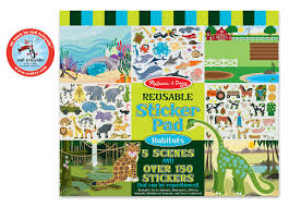 amazon com melissa u0026 doug habitats reusable sticker pad melissa