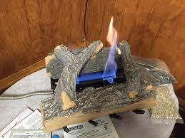 martin fireplace vent free natural gas dual burner 4 piece logs