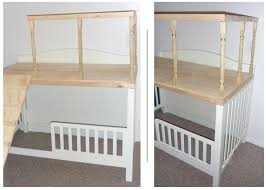 Converting A Crib To A Toddler Bed Convert A Crib To A Loft Play Area Maybe Reinforce The Frame A