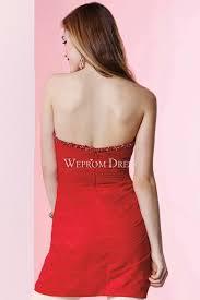 zipper red short length satin young cocktail dress