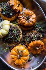 brussel sprouts thanksgiving recipe stuffed mini pumpkins