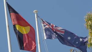 Indigenous Flags Of Australia Shorten Breaks Australia Day Silence
