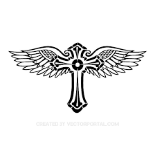 cross with wings vector image at vectorportal