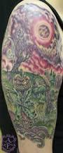 graveyard tattoos u2013 creepy design on half sleeve tattooshunter com