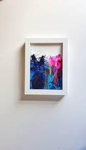 mini study blues 5 abstract original artwork teal navy
