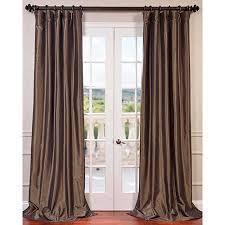 Brown Blackout Curtains Half Price Drapes Brown 84 X 50 Inch Blackout Faux Silk
