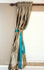 Curtains With Ribbon Ties 100 Best Curtain Tie Backs Images On Pinterest Curtain Tie Backs