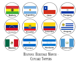 hispanic heritage month cupcake toppers ladydeelg