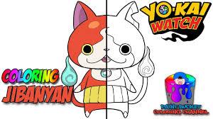 how to color jibanyan yo kai watch coloring page youtube