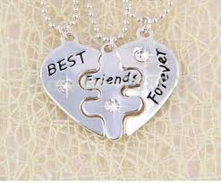 2014 new broken heart 3 parts pendant necklace best friends