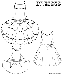 dress coloring pages coloring pages to download and print