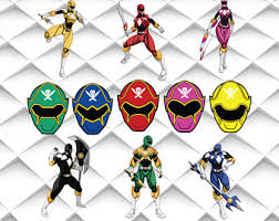 power rangers wrapping paper power rangers svg etsy