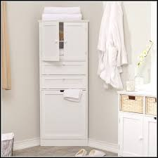 Linen Cabinet With Hamper by Cabinet Hamper Dual Laundry Sorter Cabinet White Hamper Tilt Out