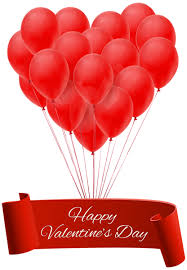 happy valentines day banner happy s day banner with balloons png clip image