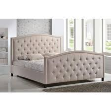 Bed Headboards And Footboards Luxeo Camden Palazzo Mist King Upholstered Bed Lux K6379 Plm The