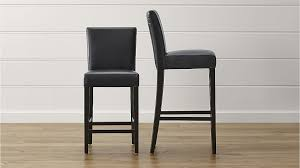 bar stools wood and leather lowe onyx leather bar stools crate and barrel