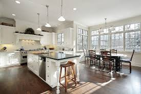 engineered hardwood floors kitchen transitional with cooktop