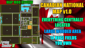 canadian map fs17 farming simulator 17 canadian national map v1 0 map mod review