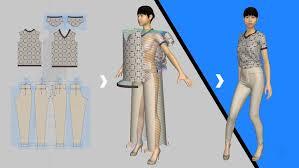 fashion design sketch in 3d using marvelous designer udemy