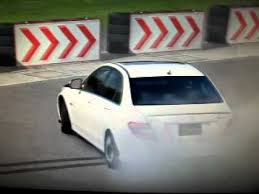 top gear mercedes e63 amg mercedes c63 amg 900hp turbo burnout on top gear test track gt5