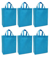 cloth gift bags cyma reusable gift bags medium aqua blue 6 bag set cyma bags