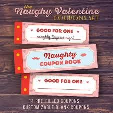 Valentine S Day Gifts For Him Homemade by Gift For Boyfriend Naughty Love Coupon Book Printable