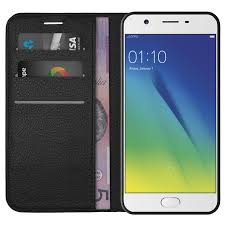 Oppo A57 Leather Wallet For Oppo A57 Black