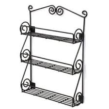 wall mounted spice rack cabinet door mount spice rack ebay