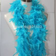 turkey feather boa 2yards lot 55grams azure blue sky blue turkey feather boa for hats