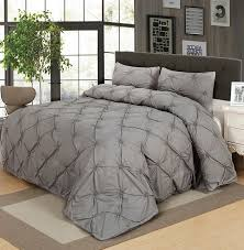 King Size Duvet Bedding Sets Luxury Bedding Sets Gray Pinch Pleat King Size