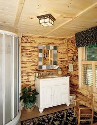 Rustic Cabin Bathroom - photos of a waterfront log home homecoming weekend country log