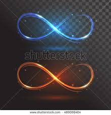 rings with fire images Blue orange signs infinity rings fire stock vector 489008404 jpg