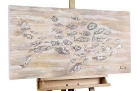 Wohnzimmerm El Trends Modernes Acryl Bild Fisch Silber Kaufen Kunstloft Kunstloft