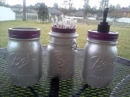 Mason Jar Bathroom Decor Find And Save Ball Mason Jar Bathroom Set Silver Purple Soap